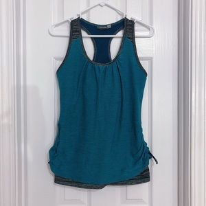 Athleta Royal Pigeon Yoga Side Ruched Tank
